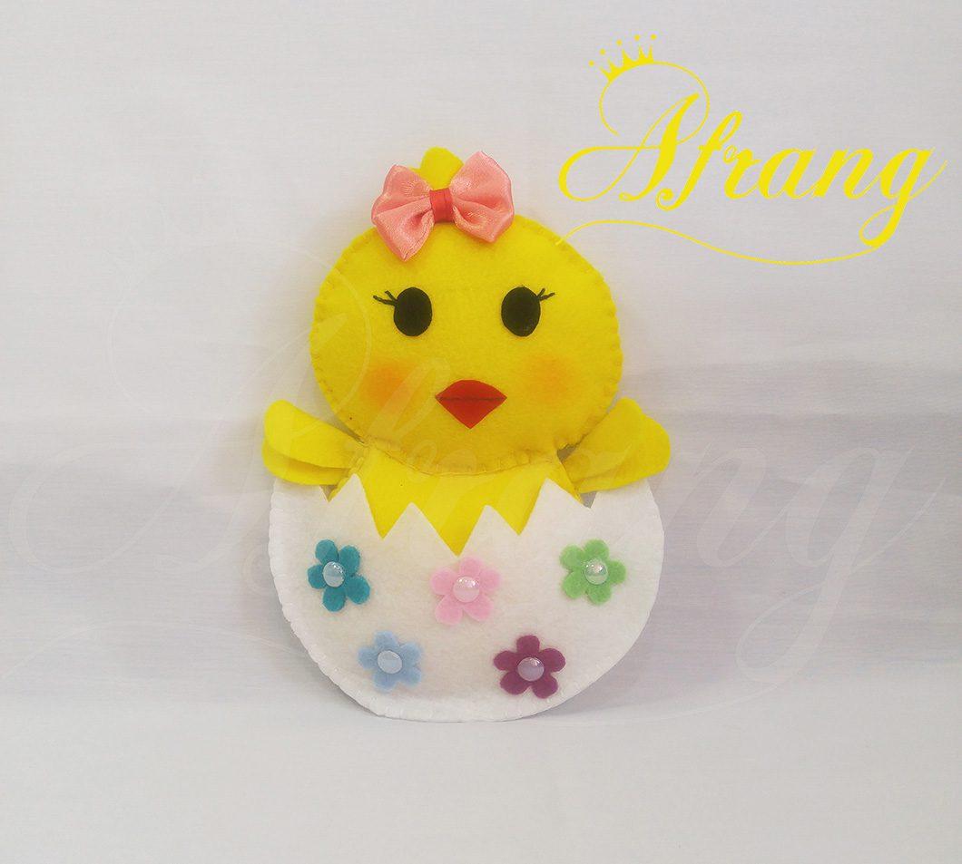 عروسک نمدی جوجه تخم مرغی