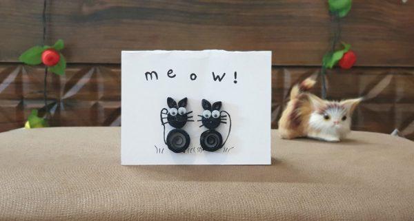 کارت پستال گربههای سیاه