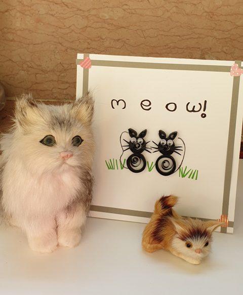 کارت پستال گربه های سیاه