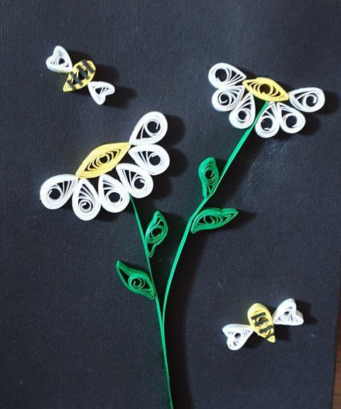 کارت تبریک گل و زنبور