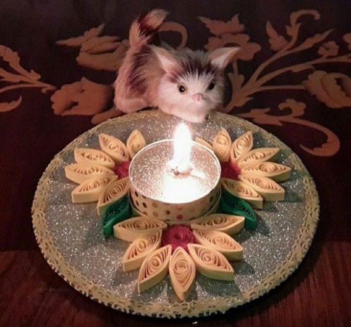 جا شمعی کاردستی