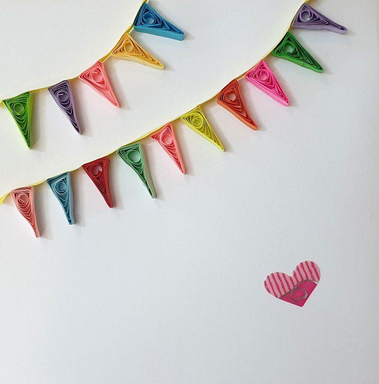 کارت تبریک تولد با ریسههای رنگی