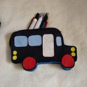 جامدادی نمدی طرح اتوبوس مدرسه