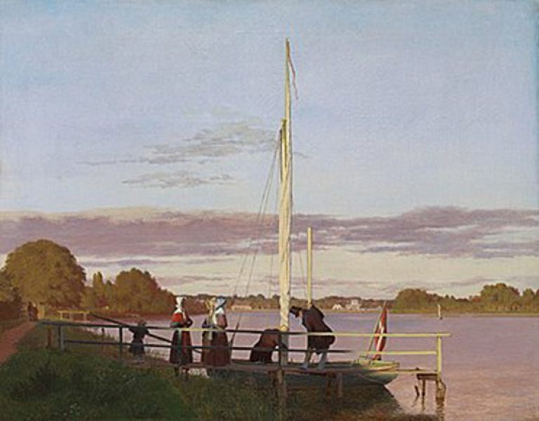 View from Dosseringen.*oil on canvas.*39.5 × 50.5 cm .*1838