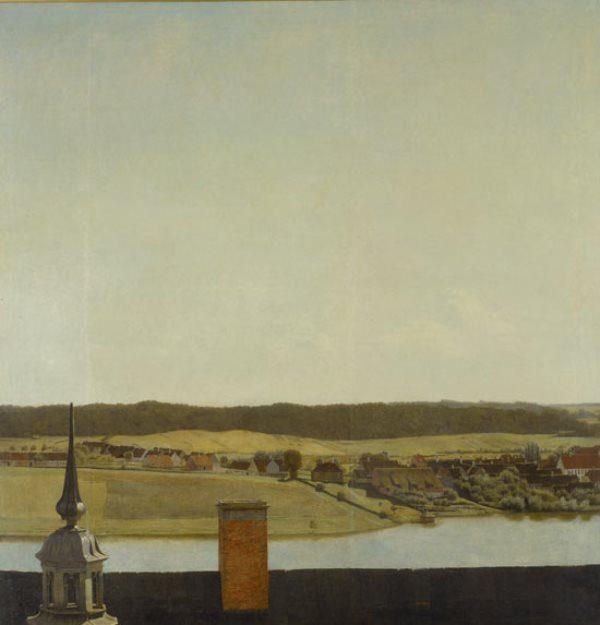 Christian-Købke-Roof-Ridge-of-Frederiksborg-Castle-1834