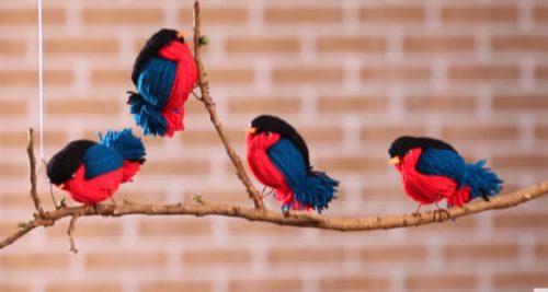 درست کردن پرنده با کاموا