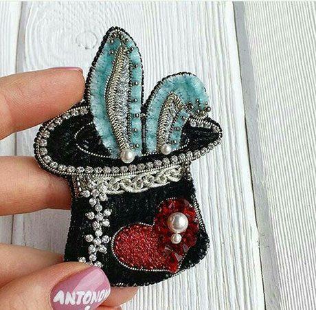 جواهردوزی خرگوش کلاه شعبده بازی