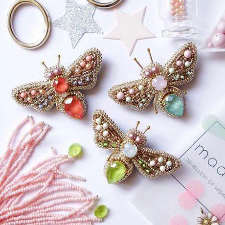 جواهر دوزی طرح پروانه