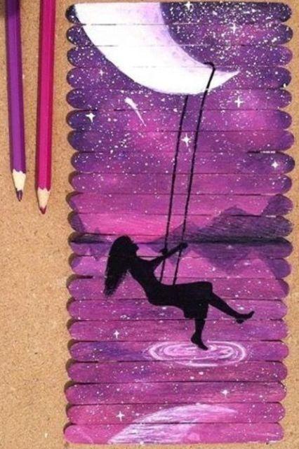نقاشی زیبا طبیعت با مداد رنگی