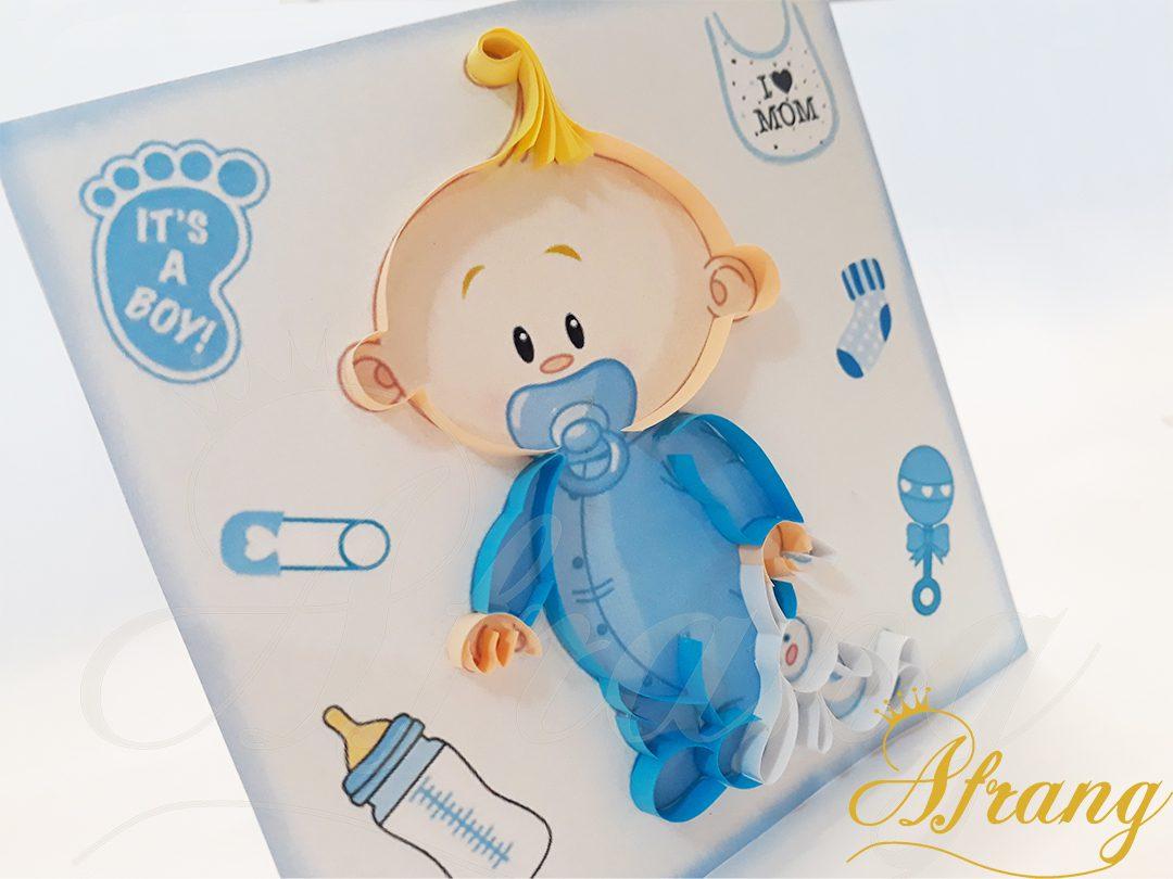 کارت پستال تولد نوزاد