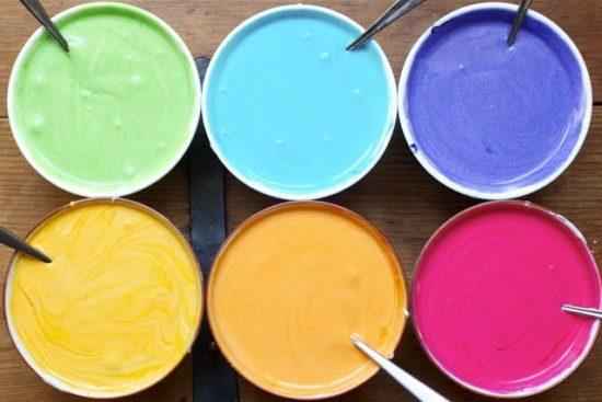 کاپ کیک رنگین کمانی