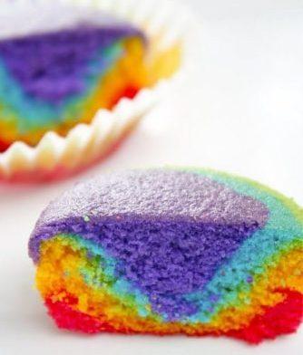 کاپ کیک رنگی