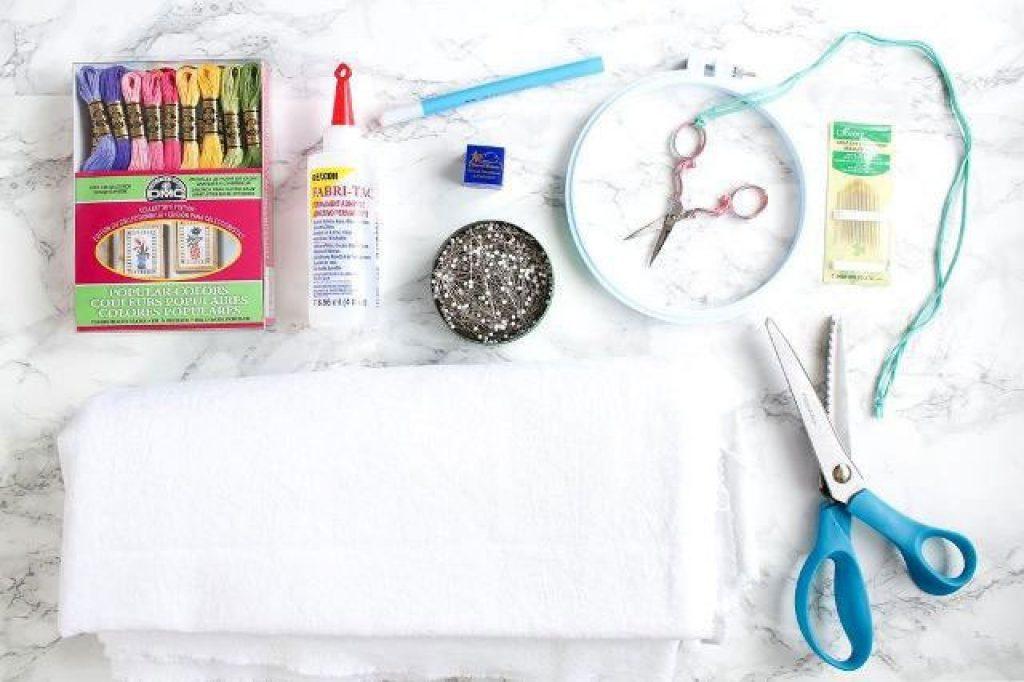 ابزار و لوازم مورد نیاز گلدوزی با دست