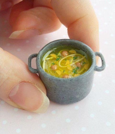 کاردستی سوپ با خمیر فیمو